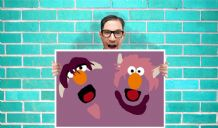 2 headed monster sesame street Art - Wall Art Print / Poster   - Kids Children Bedroom Geekery